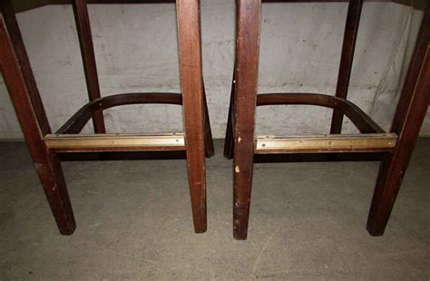 Wooden Bar Stools With Backs Wooden Bar Stools With Slatted Backs Olde Things