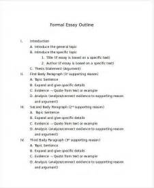 formal outline template 8 formal outline templates free sle exle format