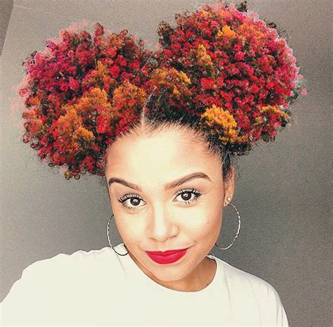 hairstyles with afro puffs black women cutie double afro puff hairstyles