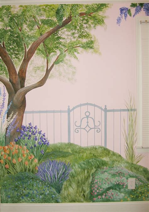 Garden Murals Related Keywords Suggestions Garden Garden Mural Ideas