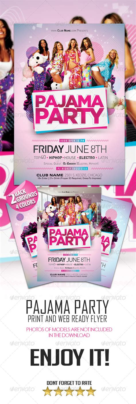 Pajama Flyer Template Pajama Party Flyer By Dopedownloads Graphicriver