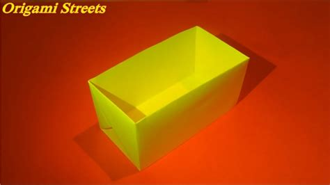 How To Make A Rectangular Box Out Of Paper - how to make a rectangular box out of paper