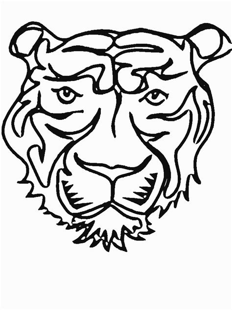 coloring pages of tiger face tiger face coloring page az coloring pages