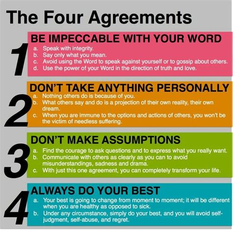 the four agreements practical 17 best ideas about the four agreements on rules quotes assumption life and change time