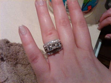 width of wedding bands versus engagement ring weddingbee