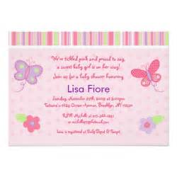 baby butterfly custom baby shower invitations zazzle