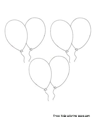 coloring pictures of birthday balloons birthday balloons coloring pages for kidsfree printable
