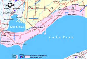 lake erie canada map ontario wine regions and wineries
