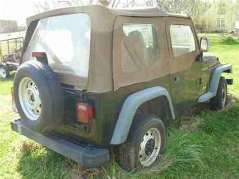 1997 Jeep Wrangler Owners Manual Purchase Used 1997 Jeep Wrangler 4x4 One Owner Black