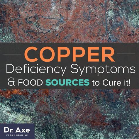 Copper Detox Foods by Copper Deficiency Symptoms Sources To Cure It
