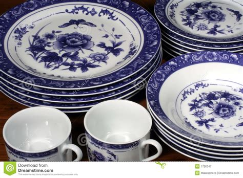 blue and white dinnerware royalty free stock photography image 1726347