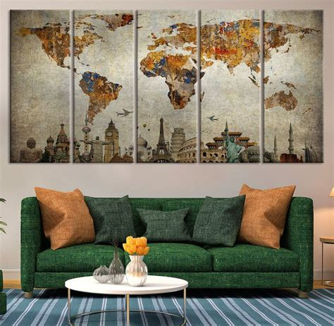 World Wall Decor by Best 20 World Map Wall Ideas On World Map