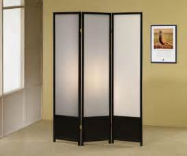 Black Finish 3 Panel Folding Screen Room Ider Ebay