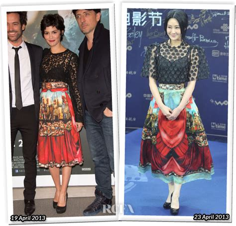 Who Wore Dolce Gabbana Better Carpet Style Awards 2 by Who Wore Dolce Gabbana Better Tautou Or