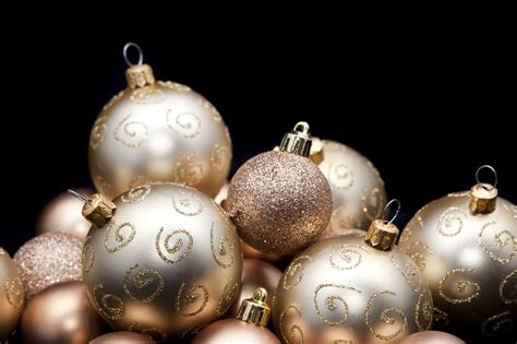 black gold christmas ornaments photo of bauble glitter background free images