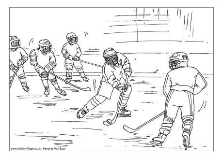 hockey rink coloring pages ice hockey colouring page 2