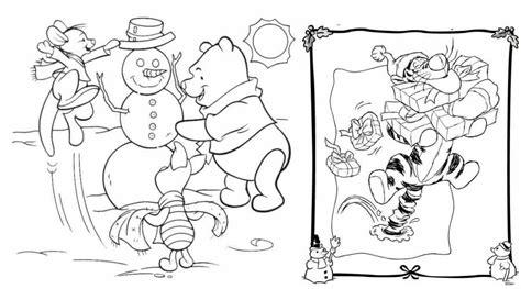 imagen de winnie pooh de navidad para colorear imagenes 10 dibujos disney de navidad para colorear