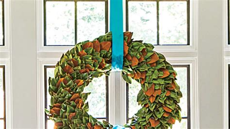 how to make a magnolia wreath southern living make your own magnolia christmas wreath southern living