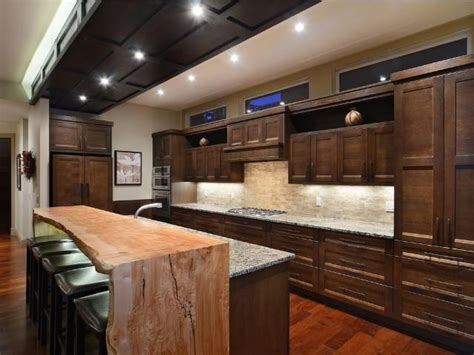Kitchen Island With Bar Top Live Edge Kitchen And Bath Portfolio Features Countertops