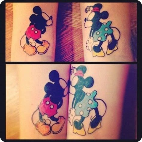 mickey mouse and minnie mouse couple tattoos discover and save creative ideas