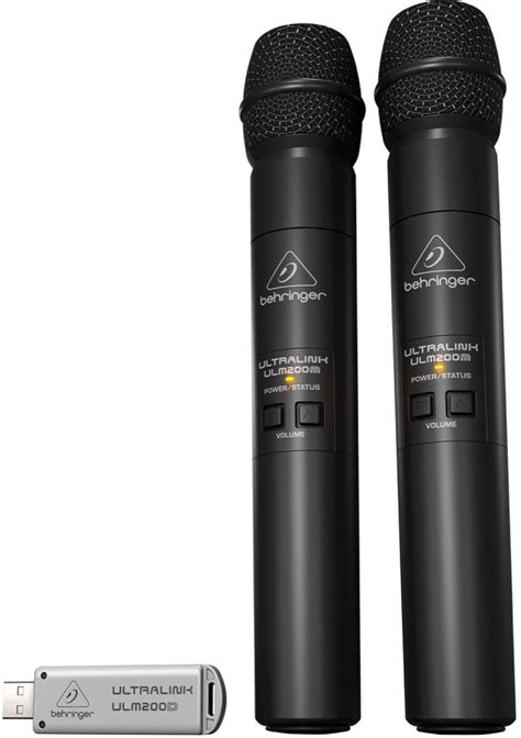 Behringer Wireless Microphones Systems Ultralink Ulm202usb Set behringer ulm202usb digital wireless handheld microphone system new