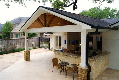 contemporary patio cover kitchen and firepit