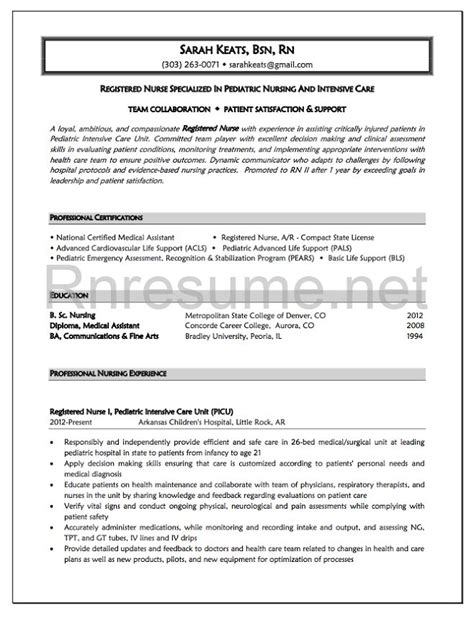 experienced nursing resume examples examples of resumes