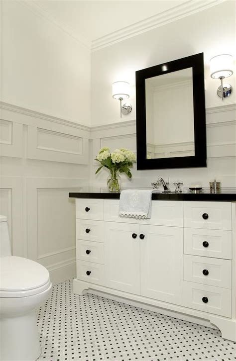 gray black and white bathroom bathroom molding traditional bathroom benjamin moore