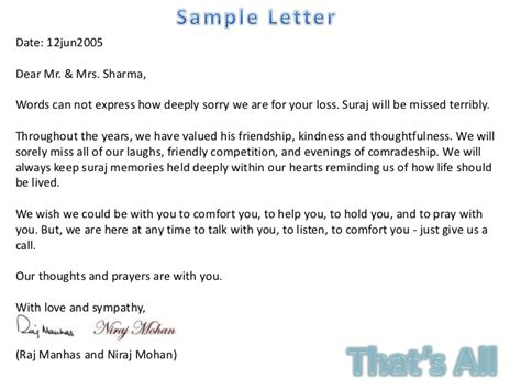 Letter Closing Husband Condolence Letter