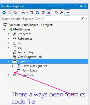C Form Design Not Showing | c visual studio solution explorer not showing form cs