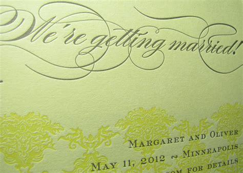 Digby Wedding Invitation And Design Studio by Custom Damask Letterpress Wedding Invitation Digby