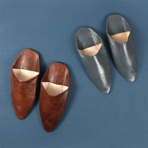 leather slippers classic s moroccan pointed leather slippers by bohemia