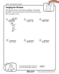 Long Division 3 Digits By 2 Digits 5th Grade Long