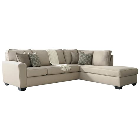 benchcraft sectional benchcraft calicho contemporary sectional with right