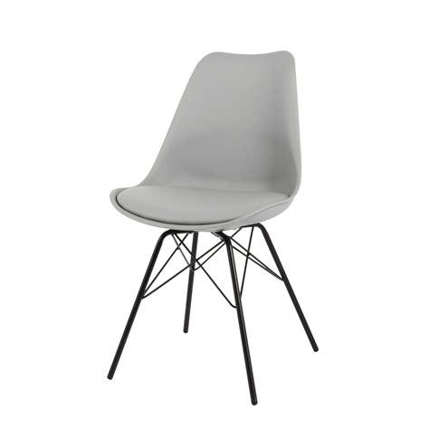 Stuhl Metallbeine by Stuhl Aus Kunststoff Und Metall Grau Coventry Maisons