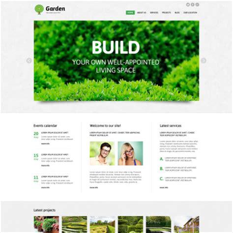 Garden Layout Template Exterior Designer Joomla Template