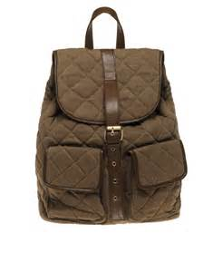 river island quilted backpack in brown for lyst