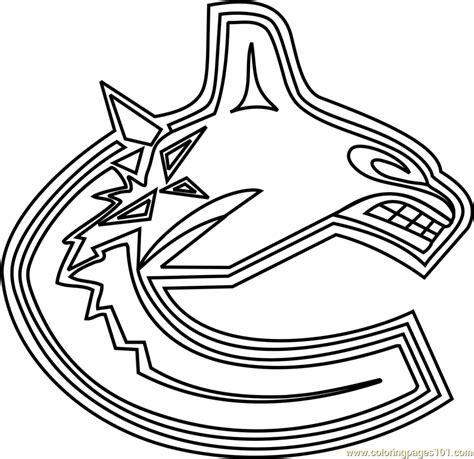 coloring pages vancouver canucks vancouver canucks logo coloring page free nhl coloring
