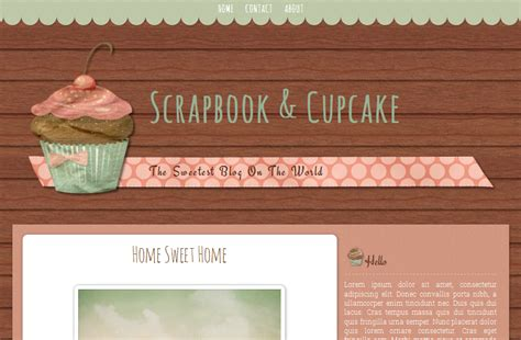 scrapbook templates for blogger scrapbook and cupcake cute blog template ipietoon cute
