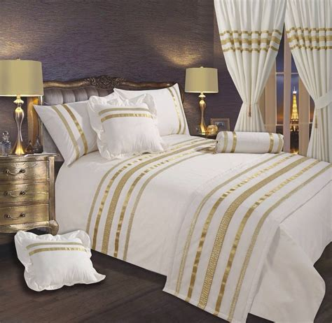 stylish bedding cream gold stylish lace diamante sequin duvet cover