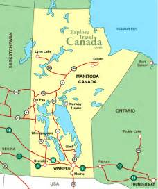Map Of Manitoba Canada by Map Manitoba Canada