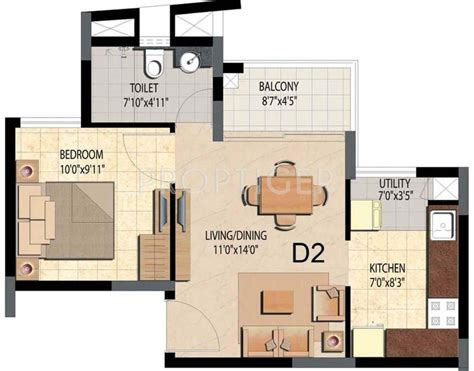 600 sq ft studio 600 sq ft 1 bhk 1t apartment for sale in prestige group