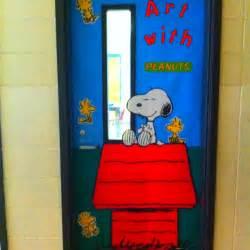 snoopy classroom door snoopy theme