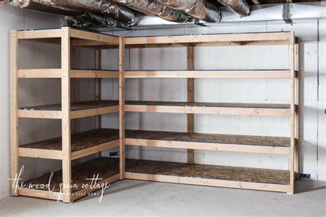 diy basement shelving basement shelving garage storage