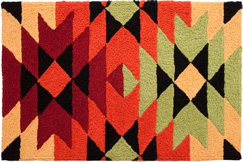 Aztec Style Rugs by Southwestern Indian Aztec Blanket Design Jellybean Accent