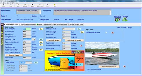 boat browser full screen tunnel boat design software input screens