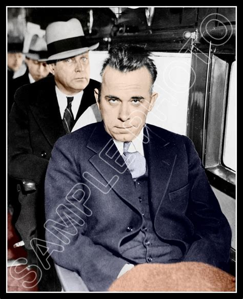 Window Bench For Sale John Dillinger Photo 8x10 1934 In Custody Colorized
