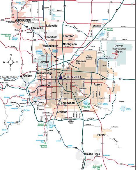 map of denver area map of denver metro afputra