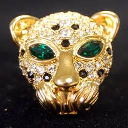 JBK Leopard Head Brooch   Vintage JBK Jewellery