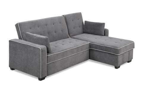 futon king augustine king size sofa bed moon grey by serta lifestyle